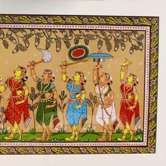 GiTAGGED Orissa Pattachitra - Radha Krishna Rasaleela 32D
