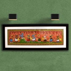 GiTAGGED Orissa Pattachitra - Radha Krishna Rasaleela 33A