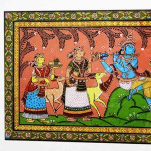 GiTAGGED Orissa Pattachitra - Radha Krishna Rasaleela 33B