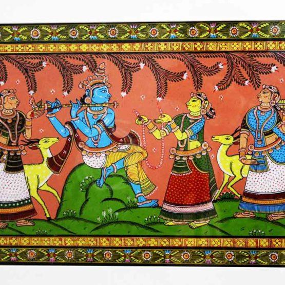 GiTAGGED Orissa Pattachitra - Radha Krishna Rasaleela 33C