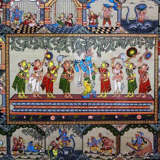 GiTAGGED Orissa Pattachitra - Radha Krishna Rasaleela 35C