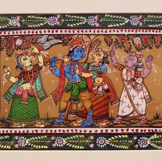 GiTAGGED Orissa Pattachitra - Radha Krishna Rasaleela 5B