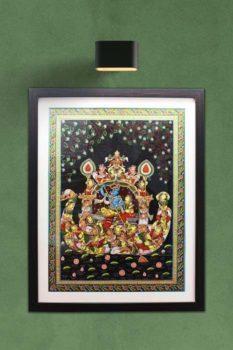 GiTAGGED Orissa Pattachitra Radha Krishna Swan Theme 1