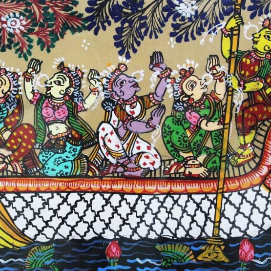 GiTAGGED Orissa Pattachitra - Ship Travel 13C
