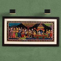 GiTAGGED Orissa Pattachitra Shri Krishna-Balarama with Gopikas 27A