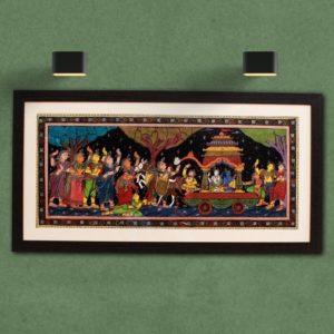 GiTAGGED Orissa Pattachitra Shri Krishna-Balarama with Gopikas 27A