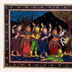GiTAGGED Orissa Pattachitra Shri Krishna-Balarama with Gopikas 27B