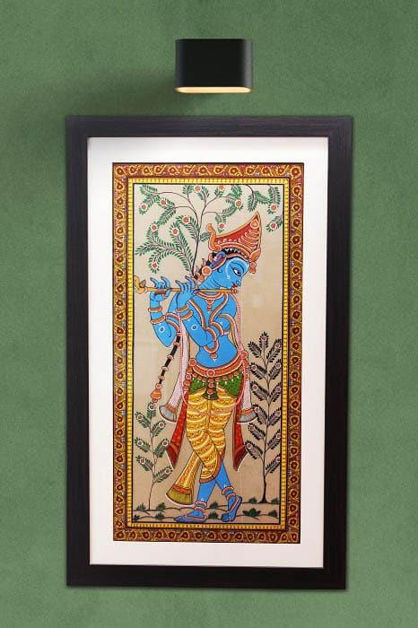 GiTAGGED Orissa Pattachitra Shri Krishna with Flut 1