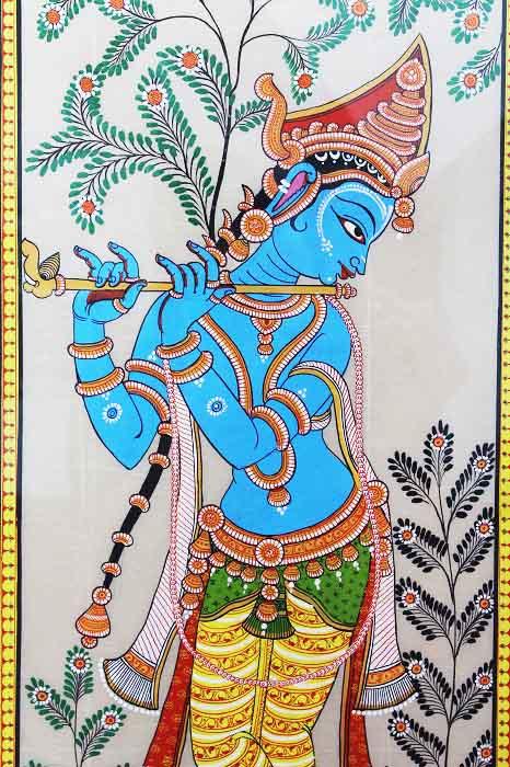 GiTAGGED Orissa Pattachitra Shri Krishna with Flut 3