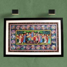 GiTAGGED Orissa Pattachitra - Shri Krishna with Gopikas 1
