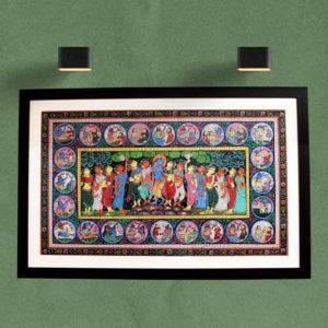 GiTAGGED Orissa Pattachitra - Shri Krishna with Gopikas 1