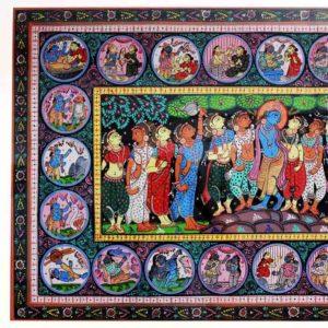 GiTAGGED Orissa Pattachitra - Shri Krishna with Gopikas 2