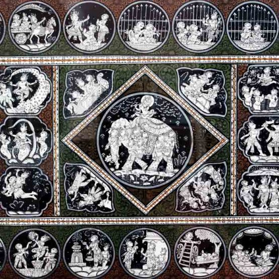 GiTAGGED Orissa Pattachitra - Shri Krishna's Birth & Life at Gokula 3