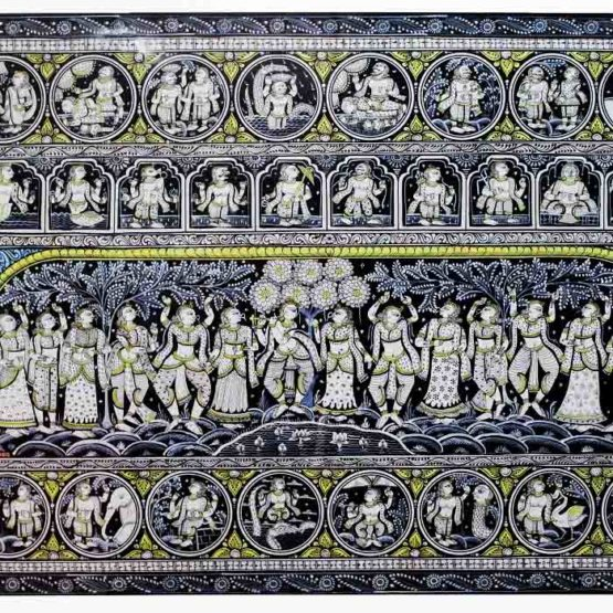 GiTAGGED Orissa Pattachitra - Shri Krishna's Group Dance with Gopikas 3