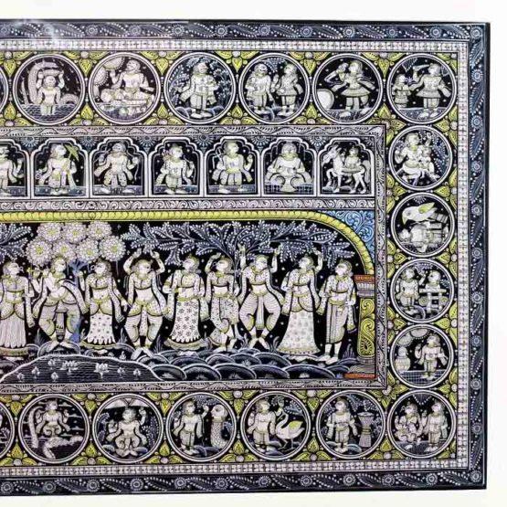 GiTAGGED Orissa Pattachitra - Shri Krishna's Group Dance with Gopikas 4