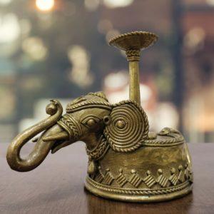 Bastar Dhokra Elephant Candle Holder 1