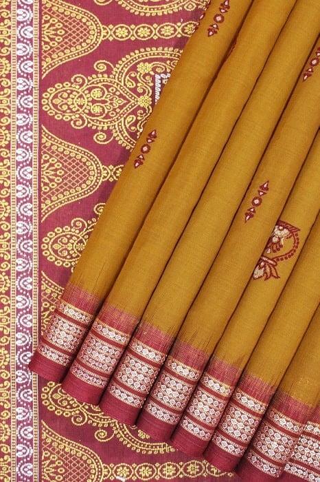 Cotton Bomkai Saree Online 1