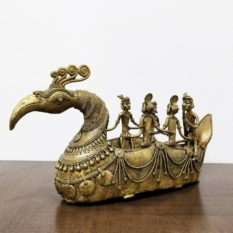 Bastar Dhokra Art Tribal Swan Boat Showpiece 1