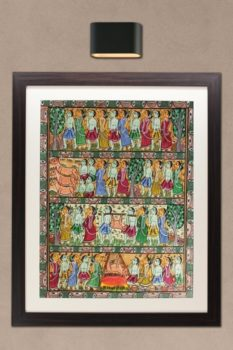 Bengal Pattachitra - Deer Hunting 1