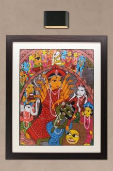 Bengal Pattachitra - Durga Painting 1