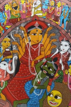 Bengal Pattachitra - Durga Painting 2