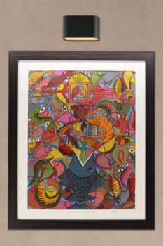 Bengal Pattachitra - Fish Painting 1