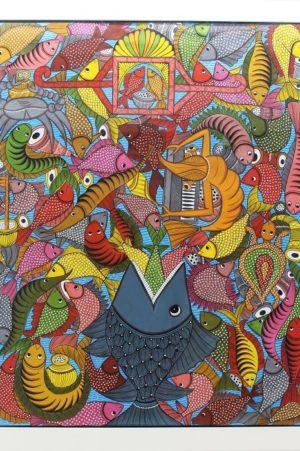 Bengal Pattachitra - Fish Painting 2