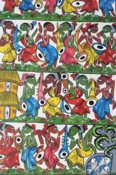 Bengal Pattachitra - Mass Tribal Dance 2