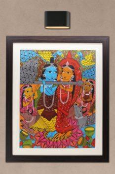 Bengal Pattachitra - Radhakrishna 1