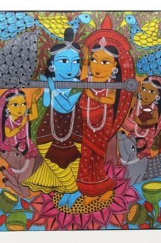 Bengal Pattachitra - Radhakrishna 2
