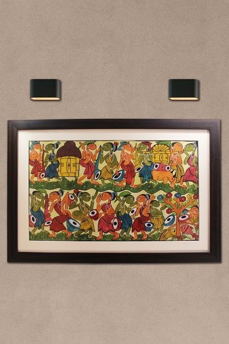 Bengal Pattachitra - Tribal Dance B1