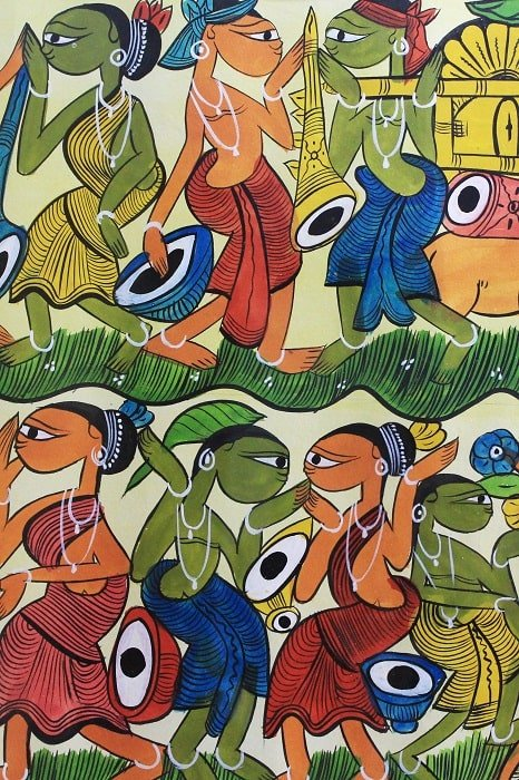 Bengal Pattachitra - Tribal Dance B4