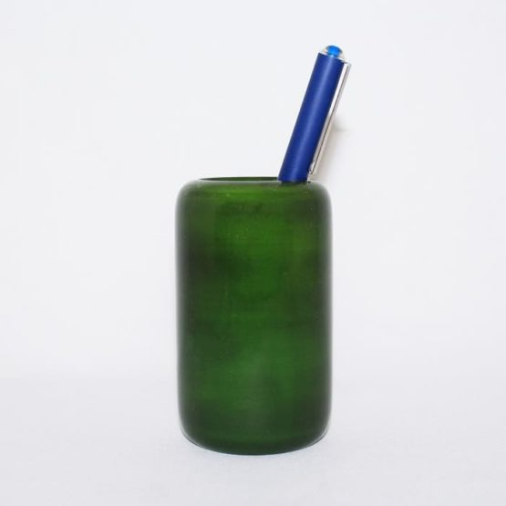 Channapatna Eco-friendly Flat Shape Glass Pen Stand (Green) 1