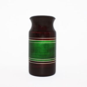 Channapatna Eco-friendly Flower Vase - Brown-Green 1