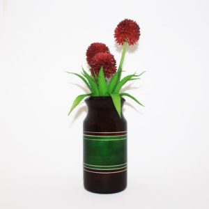 Channapatna Eco-friendly Flower Vase - Brown-Green 2