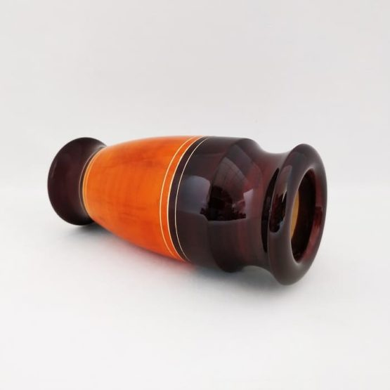 Channapatna Eco-friendly Flower Vase - Brown-Orange 3