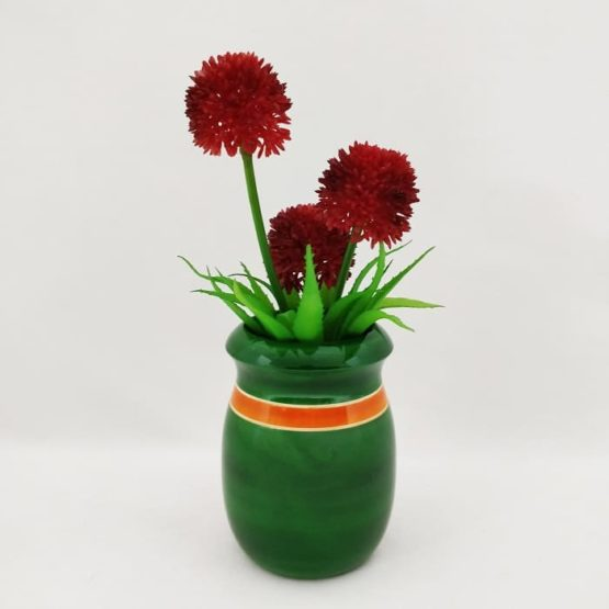 Channapatna Eco-friendly Flower Vase - Green 3