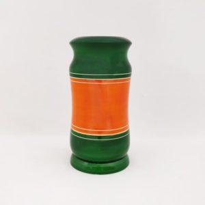 Channapatna Eco-friendly Flower Vase - Green-Orange 1