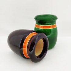 Channapatna Eco-friendly Flower Vase Set of 2 - Black & Green 1