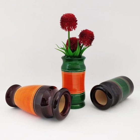 Channapatna Eco-friendly Flower Vase Set of 3 2