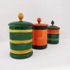 Channapatna Eco-friendly Medium Jar With Lid - Set of 3 A