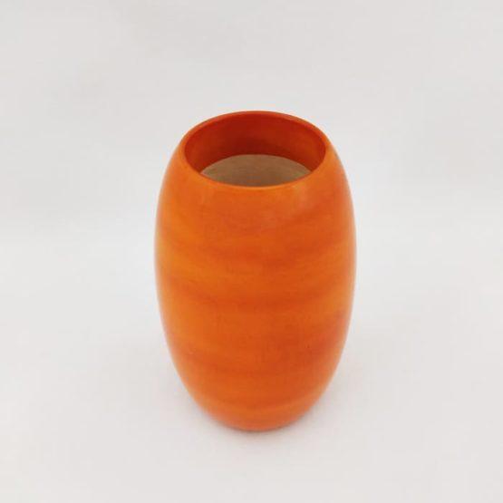 Channapatna Eco-friendly Oval Shape Pen Stand (Orange) 2
