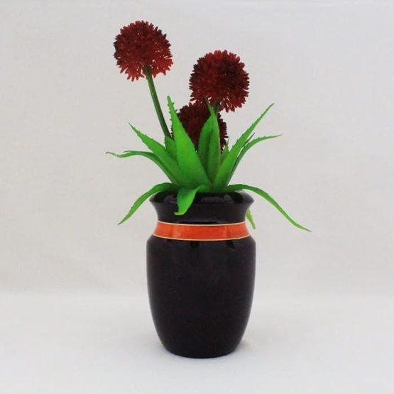 Channapatna Flower Vase - Black 4