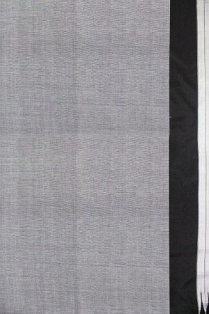 Handloom Black-Grey Cotton-Silk Saree Online 2