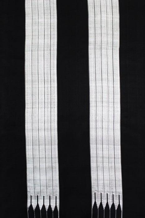 Handloom Black-Grey Cotton-Silk Saree Online 3