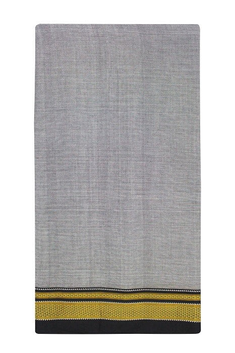 Handloom Black-Grey Cotton-Silk Saree Online 5