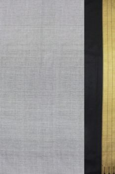 Handloom Grey Cotton-Silk Saree Online 2