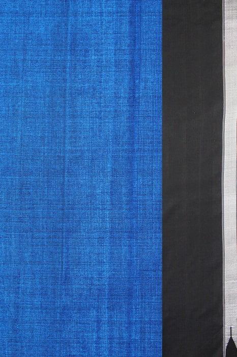 Ilkal Handloom Blue Cotton-Silk Saree Online 2