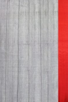 Ilkal Light Gray Cotton-Silk Saree Online 2