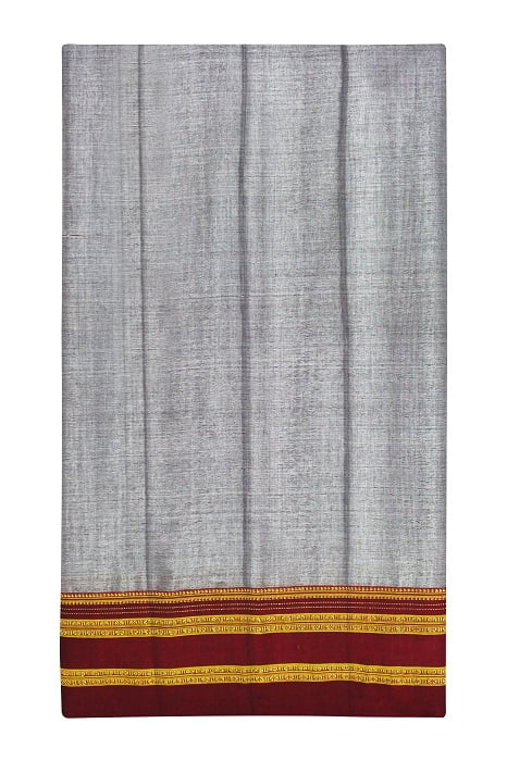 Ilkal Light Gray Cotton-Silk Saree Online 5